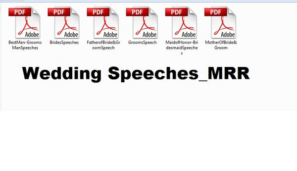 Product picture *must have*Wedding Speeches Packages (6 Books) with MRR